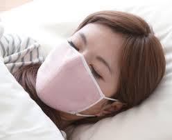 マスクをして睡眠
