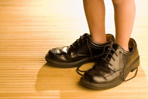 靴のサイズが合っていない