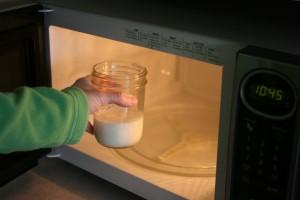 電子レンジでホットミルク