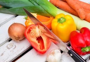ナイフと野菜
