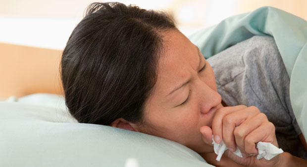 咳で眠れない