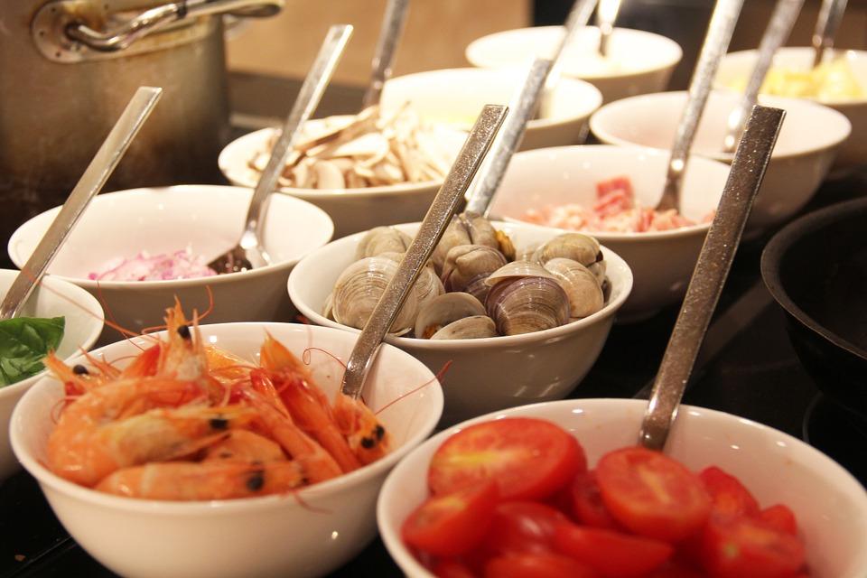 buffet-617163_960_720エビと貝