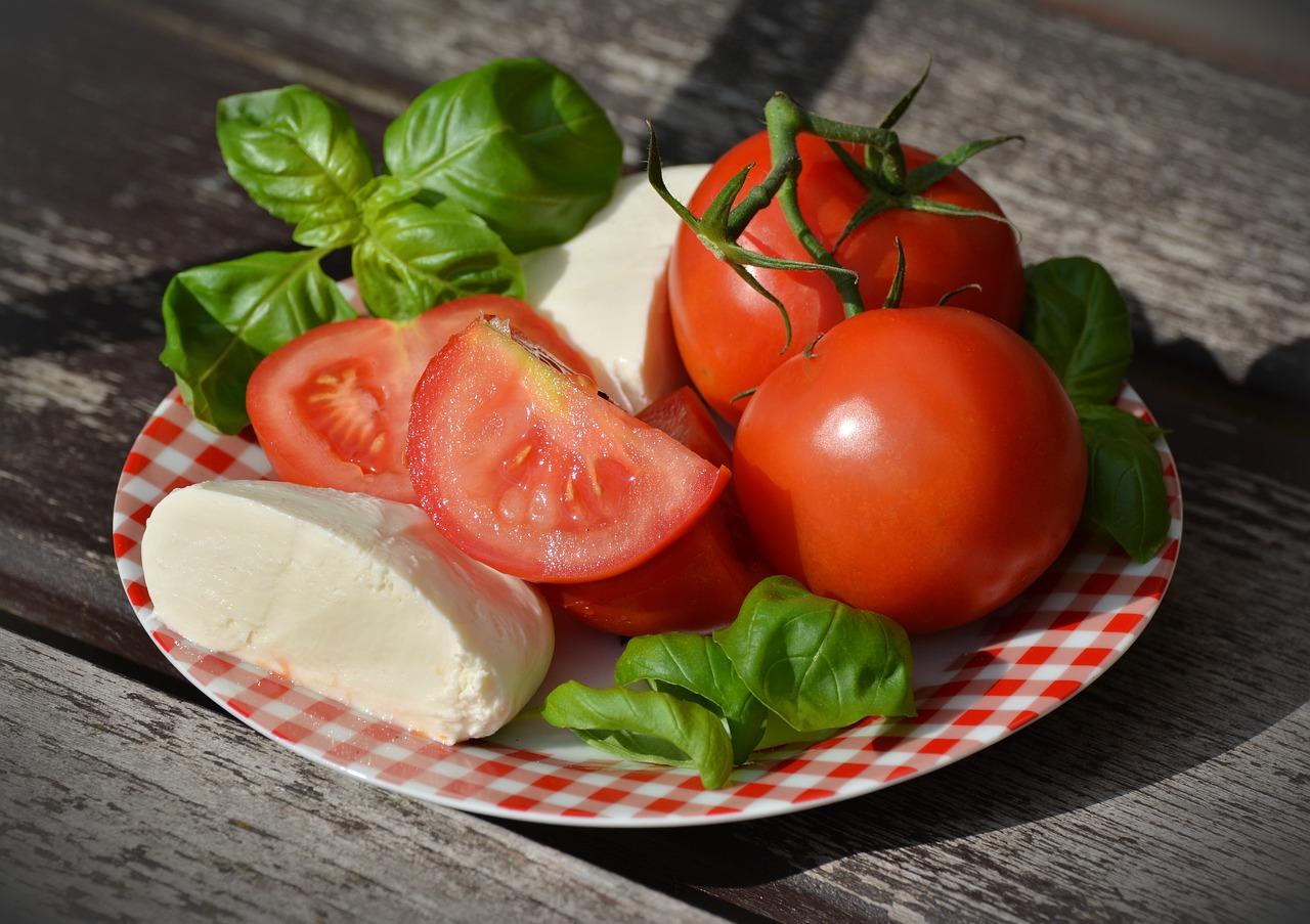 チーズとフレッシュ野菜